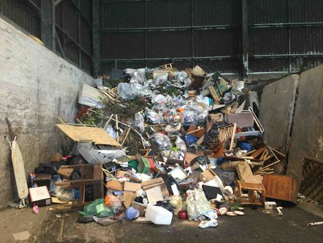 Waste Transfer Station Rubbish and Junk