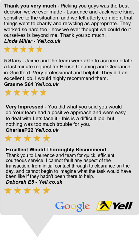 Surrey House Clearances Customer Reviews